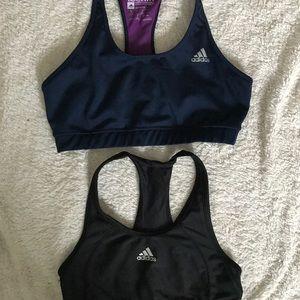 Pair of 2 Adidas tech-fit sport bras
